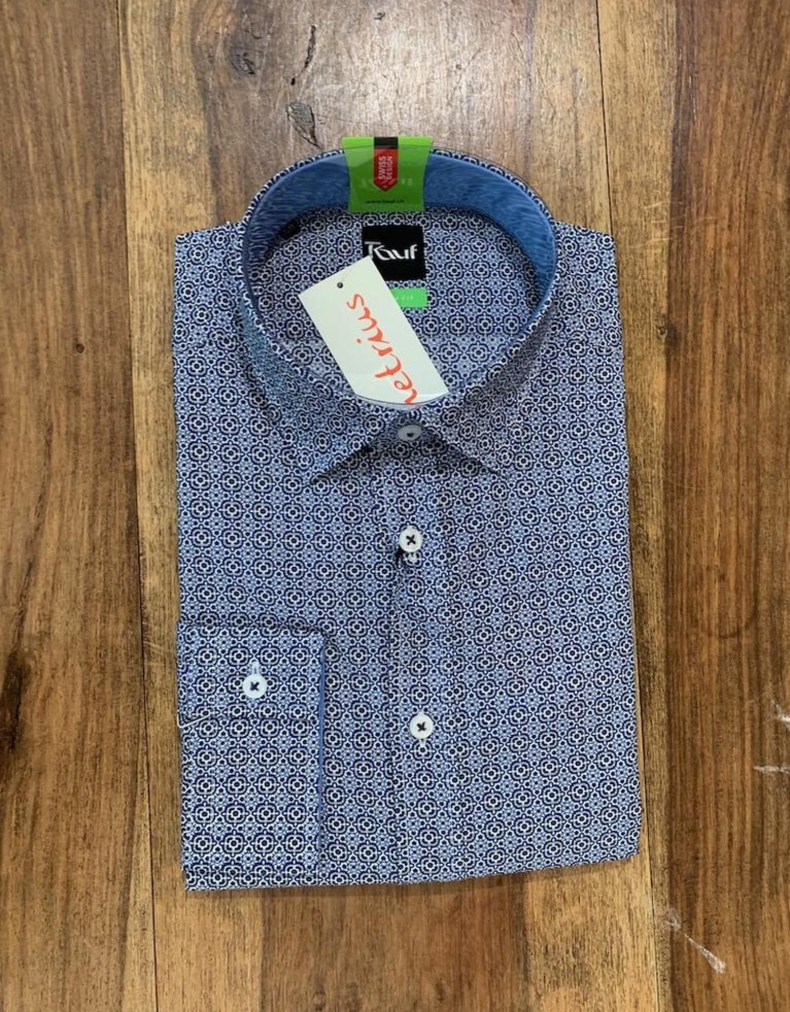 Kauf Kauf Hemd Body Fit <br /> Minimals blau<br /> Armlänge 72 cm