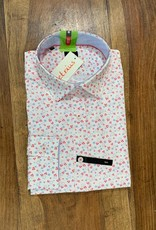 Kauf Kauf Hemd Body Fit <br /> rot blauweiss  Minimaldesign<br /> Armlänge 72 cm