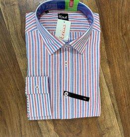 Kauf Kauf Hemd Body Fit <br /> Frabige Streifen blau rot weiss<br /> Armlänge 72 cm