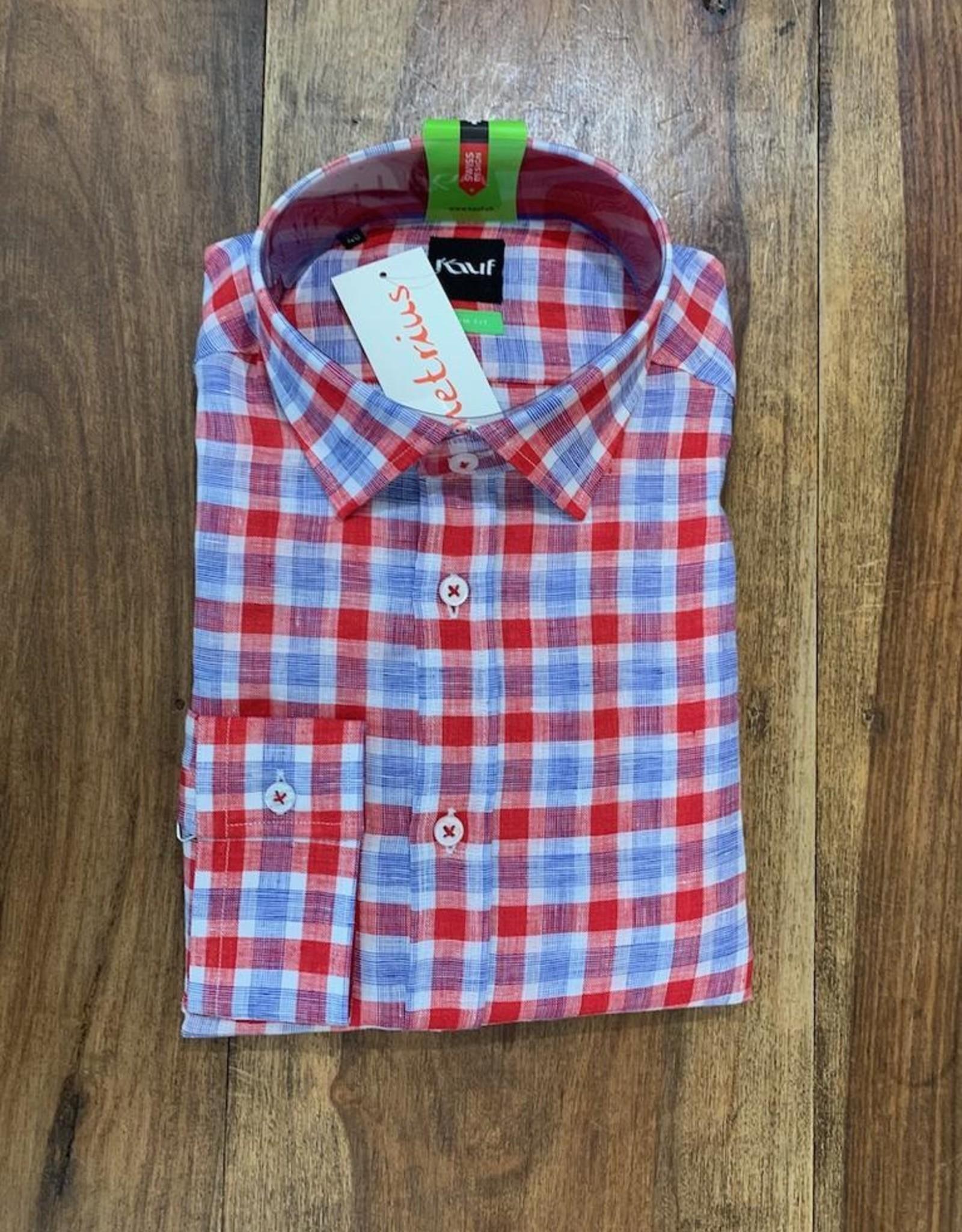Kauf Kauf Hemd Body Fit <br /> Karo rot blau weiss<br /> Armlänge 72 cm