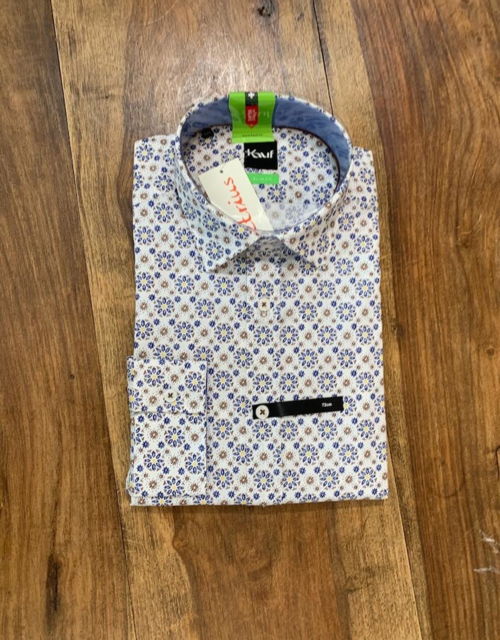Kauf Kauf Hemd Body Fit <br /> Minimals blau weiss beige<br /> Armlänge 72 cm