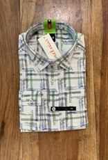 Kauf Kauf Hemd Body Fit <br /> Leinen Stripes grün blau grau <br /> Armlänge 72 cm