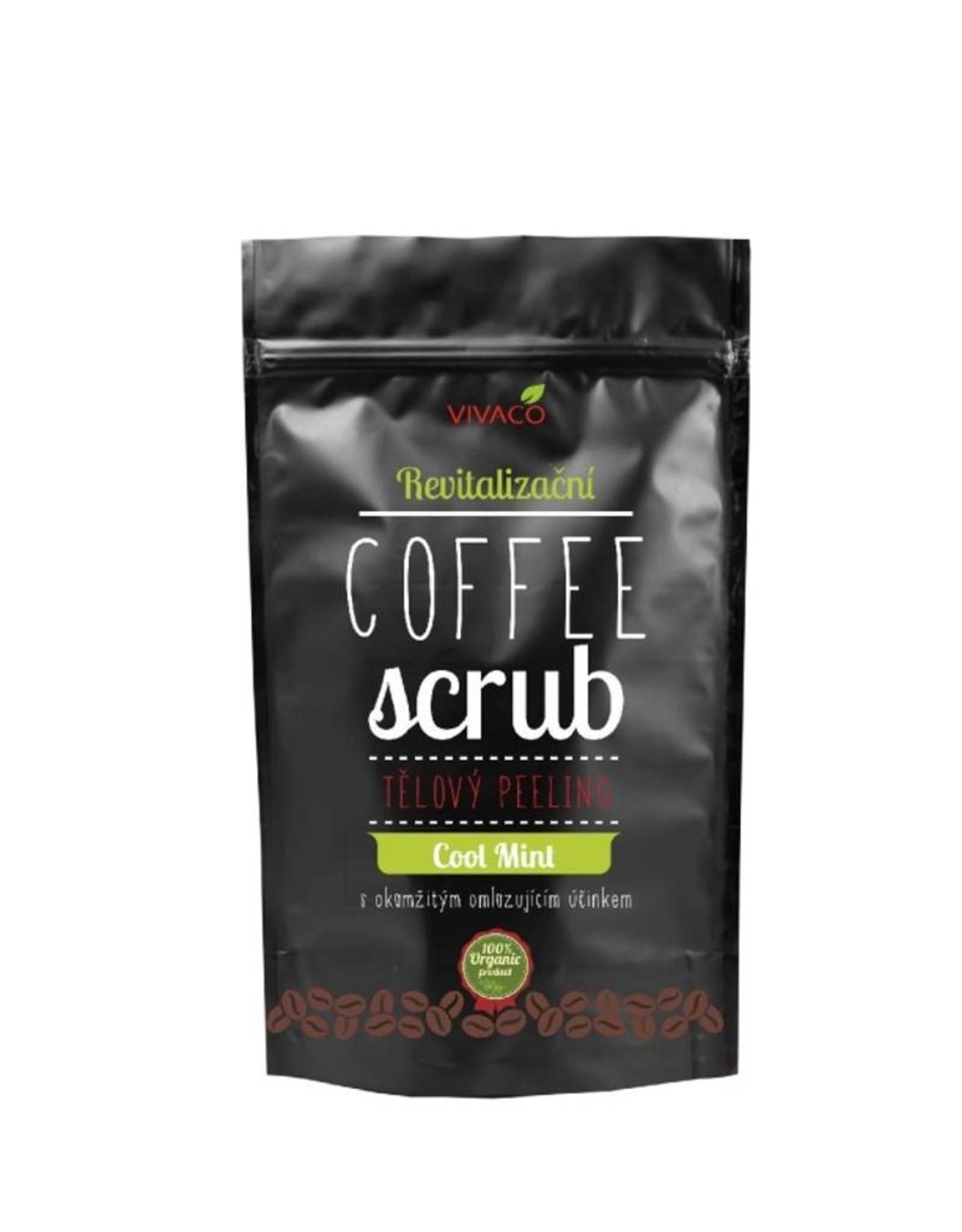 VIVACO Coffee Scrub Body Peeling Cool Mint (100% organisch)