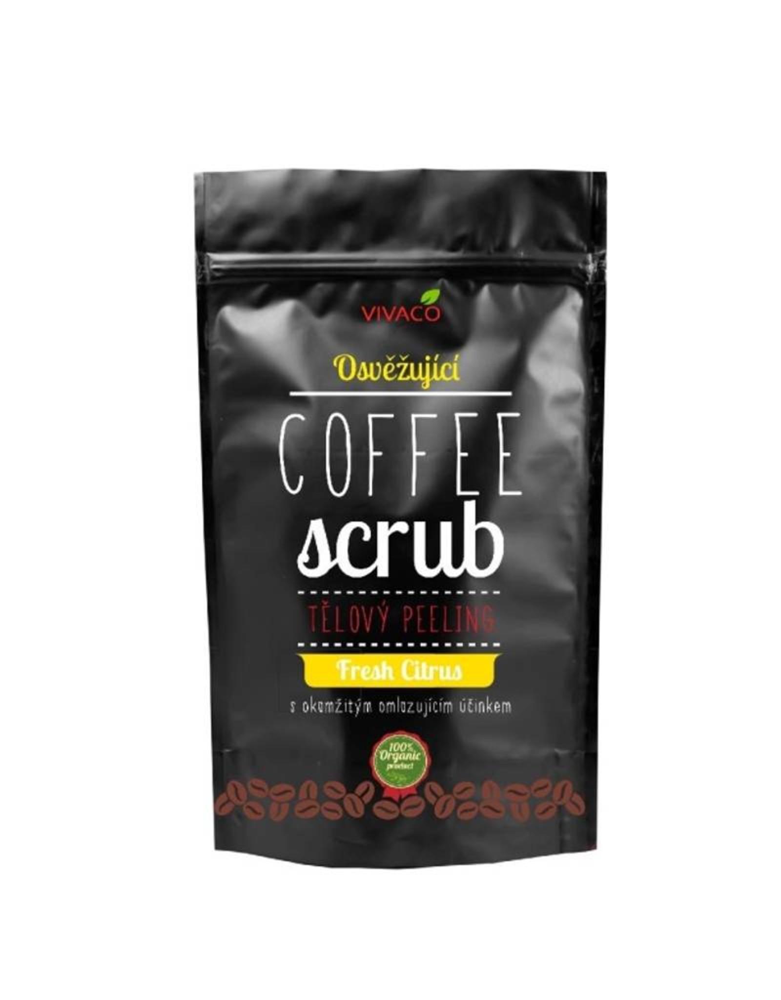 VIVACO Coffee Scrub Body Peeling Fresh Citrus (100% organisch)