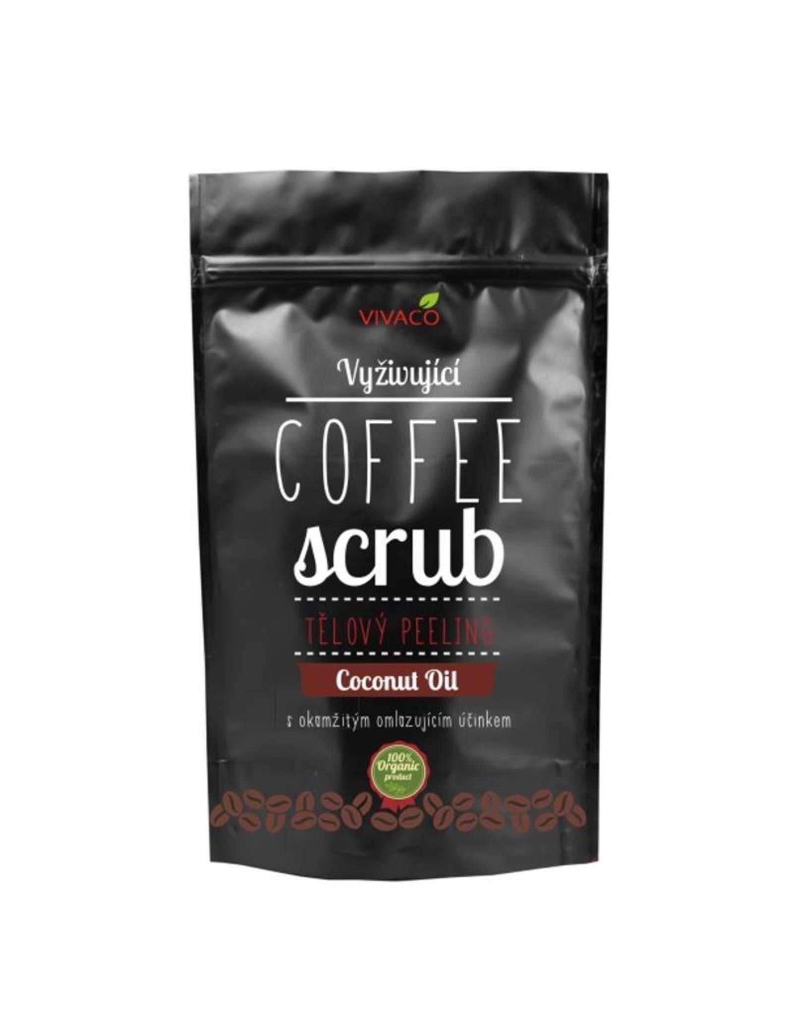 VIVACO Coffee Scrub Body Peeling met Kokosolie (100% organisch)