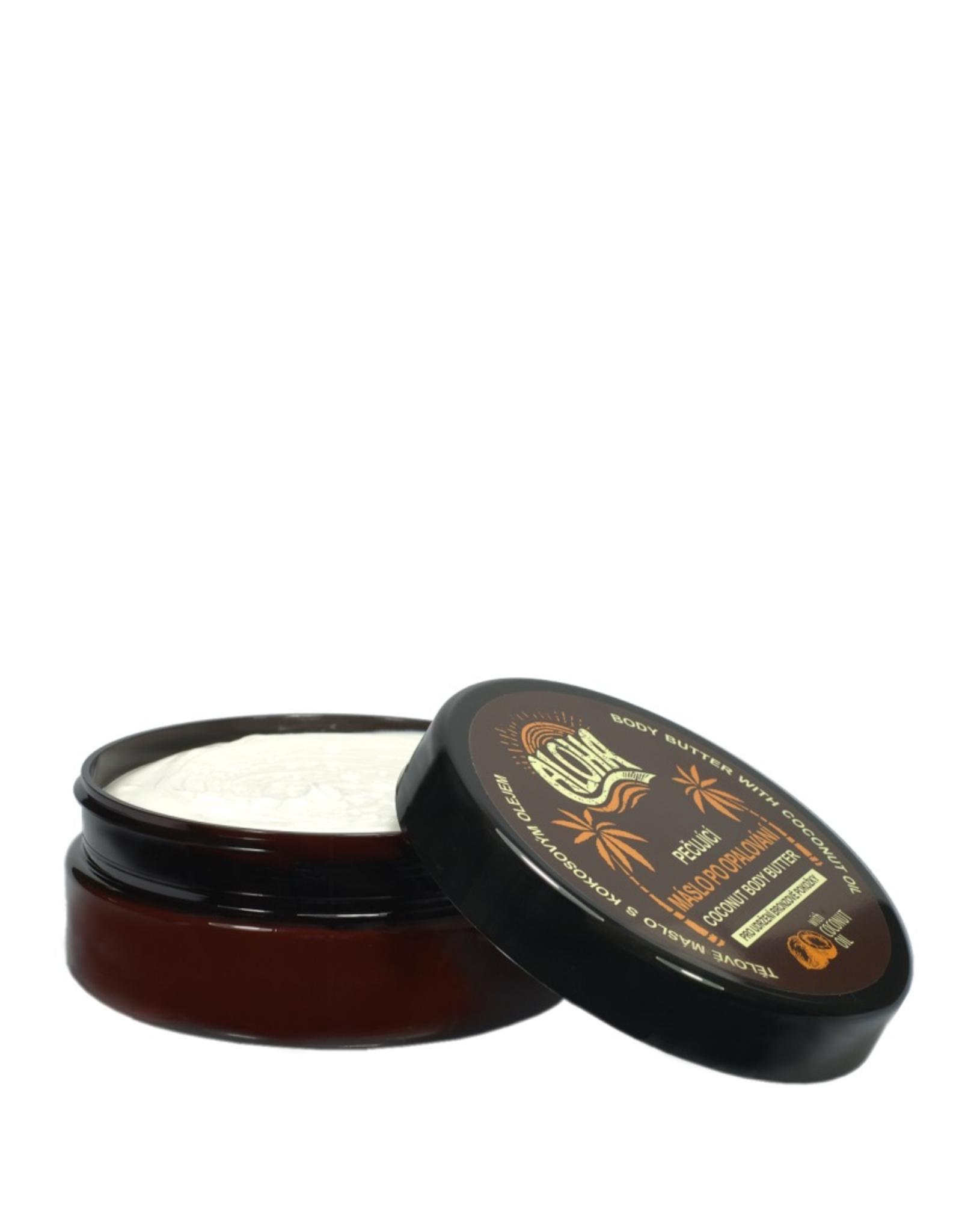ALOHA Aftersun Body Butter met Kokosolie voor langdurige behoud van een natuurlijke bruine teint.
