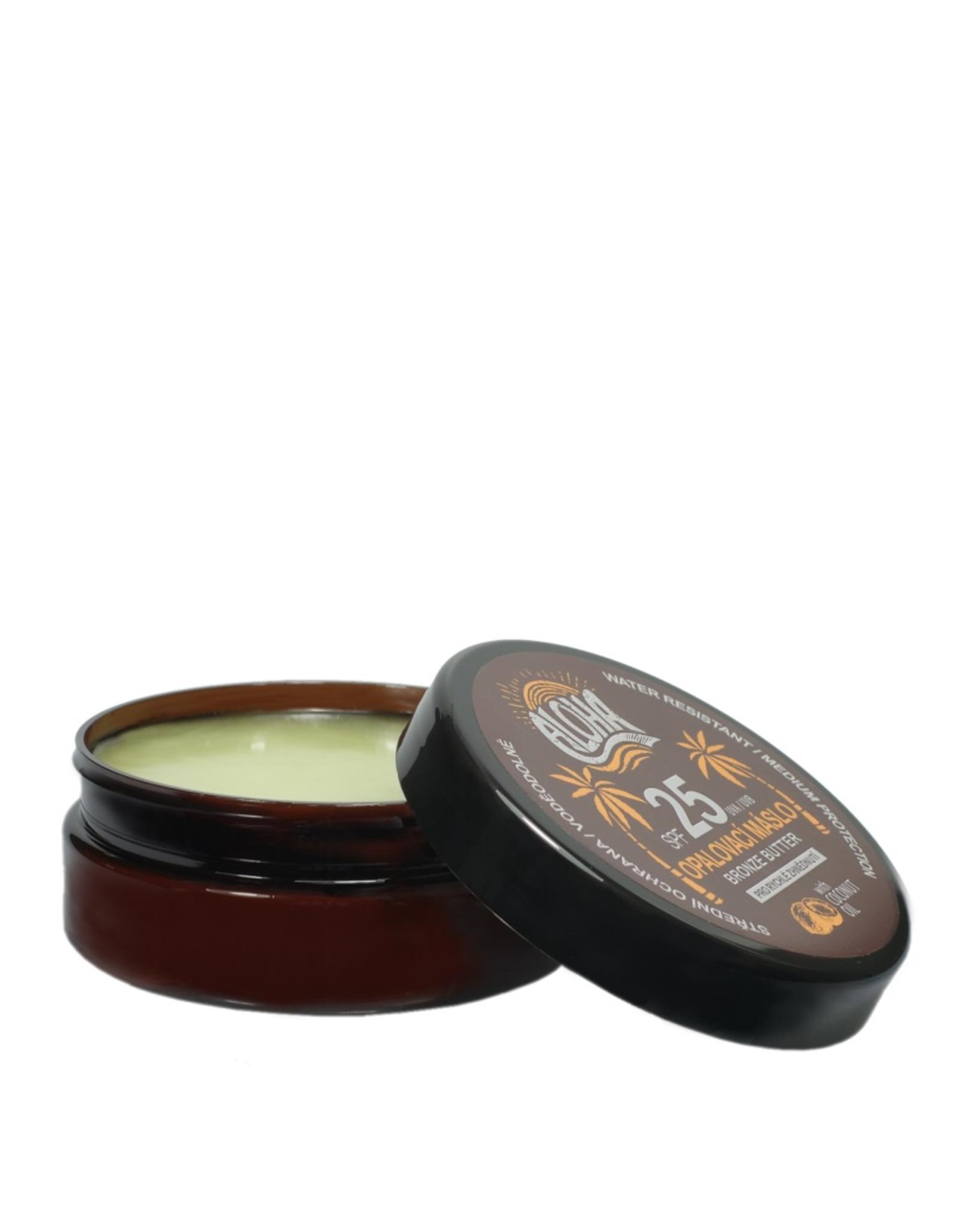 ALOHA Zonnebrand Butter met kokosolie SPF 25 voor snel bruinen