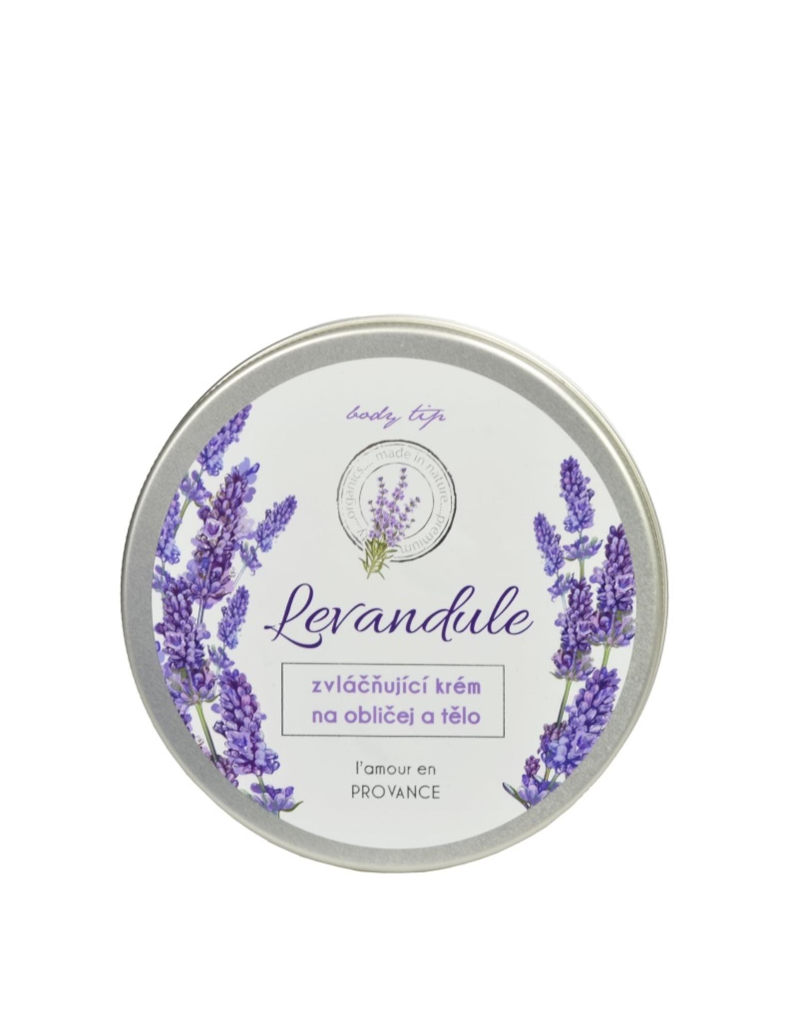 BODY TIP PREMIUM Verzachtende gezicht - en Bodycrème met Lavendelolie