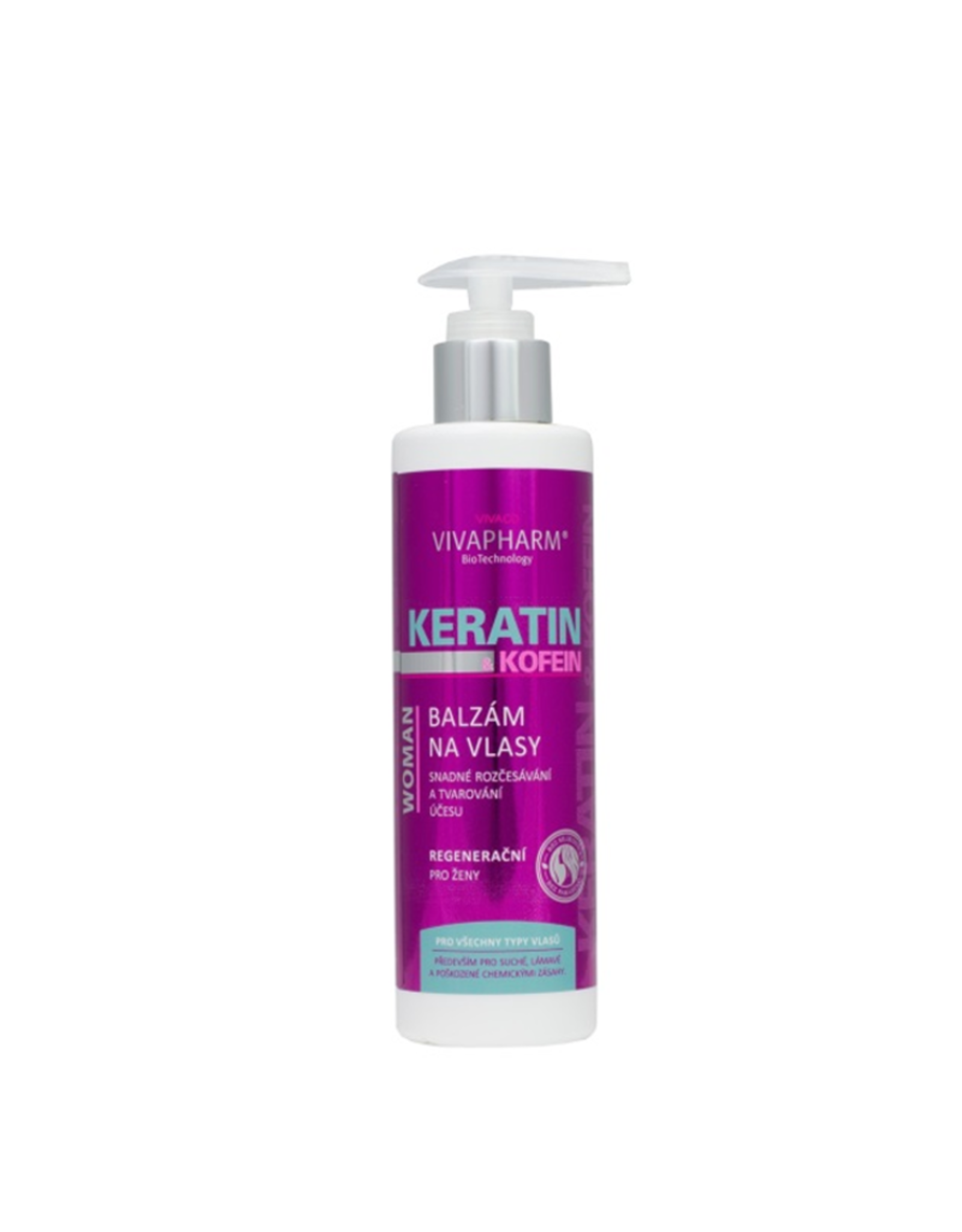 VIVAPHARM®   Haarbalsem met Keratine  & Cafeïne