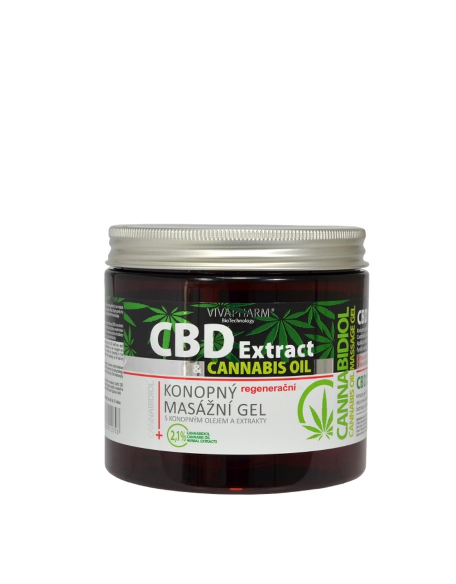 VIVAPHARM®   CBD Cannabis Massage Gel met Cannabisolie
