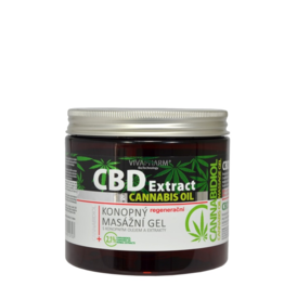 VIVAPHARM®   CBD Cannabis Massage Gel met Cannabisolie