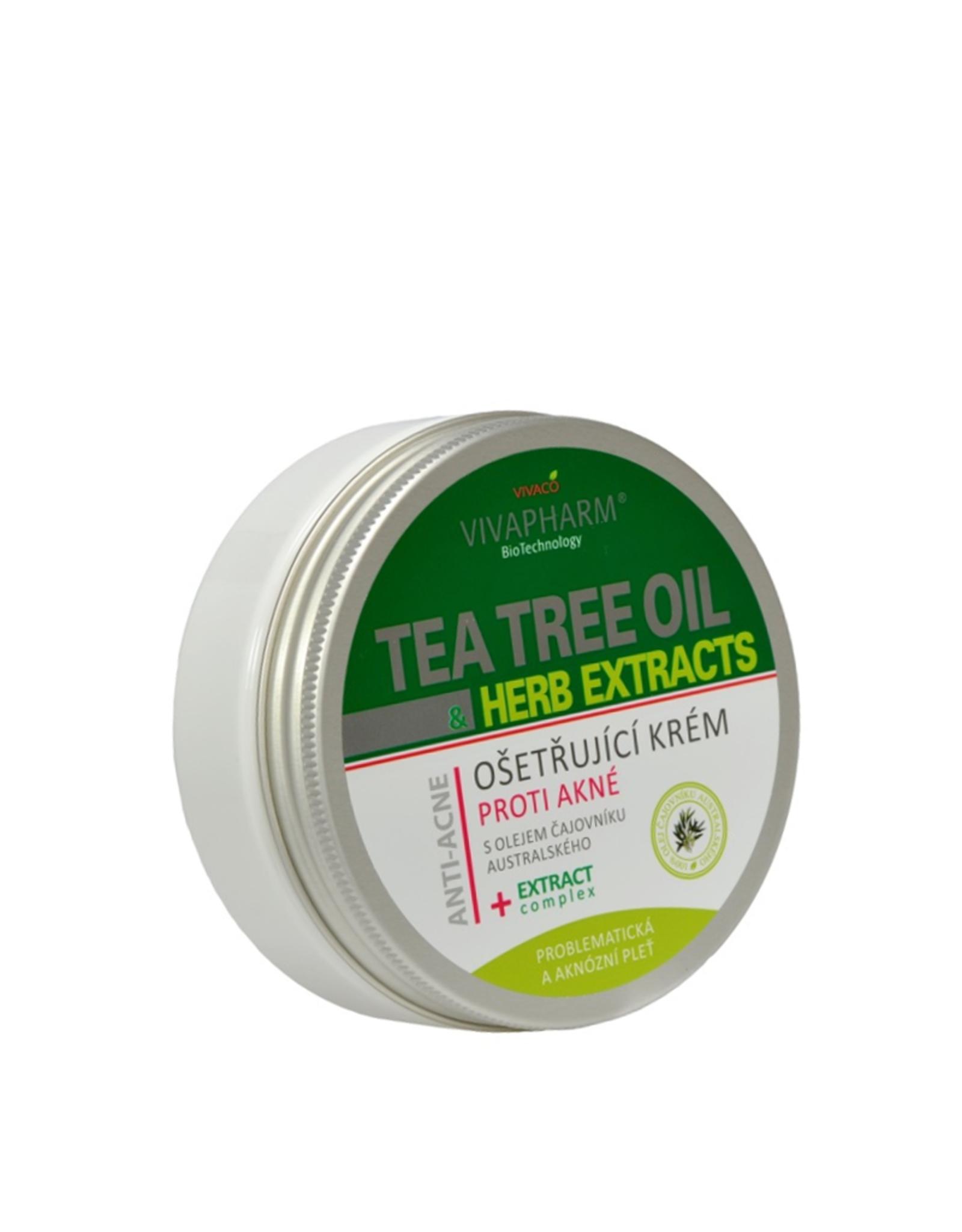 VIVAPHARM®   Behandelingscrème tegen acné met Tea Tree olie en kruidenextracten