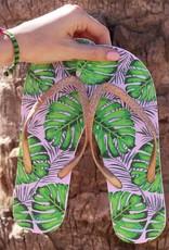 Tropical Glitter Flip Flops - Silver MY JEWELLERY