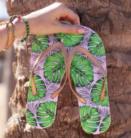 Tropical Glitter Flip Flops - Silver MY JEWELLERY