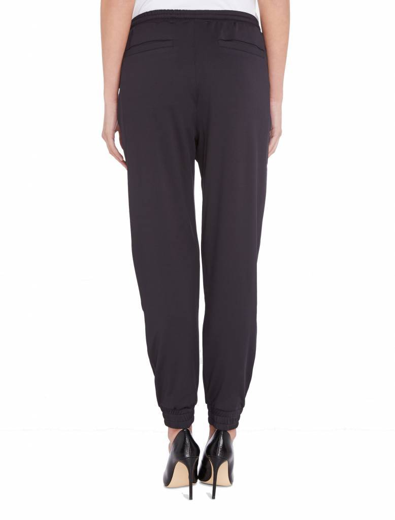 SALE 18015501 CHIC TRACKPANTS BLACK PUREWHITE