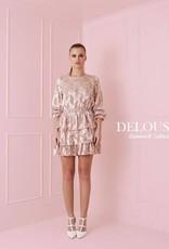 Maison Runway / Delousion SALE SANNA DRESS PEACH DL10019