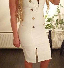SALE Blazer dress white gold buttons REF W1607