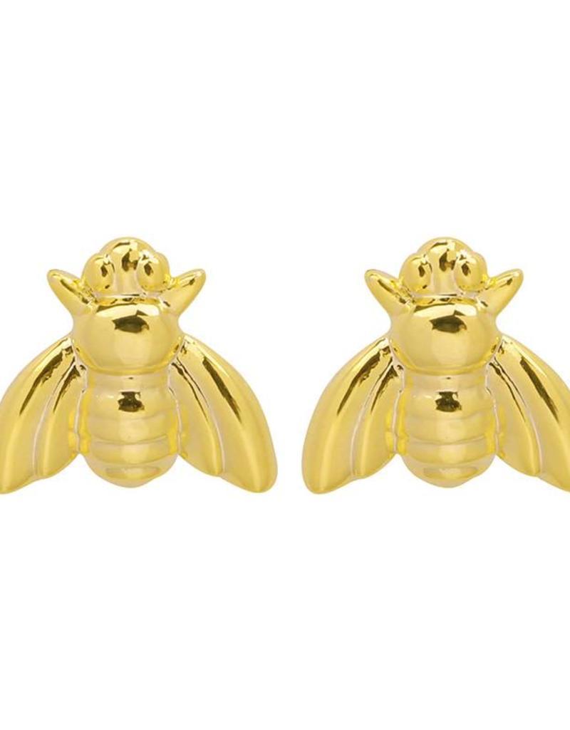 Ladybugs EARRINGS BUMBLEBEE GOLD