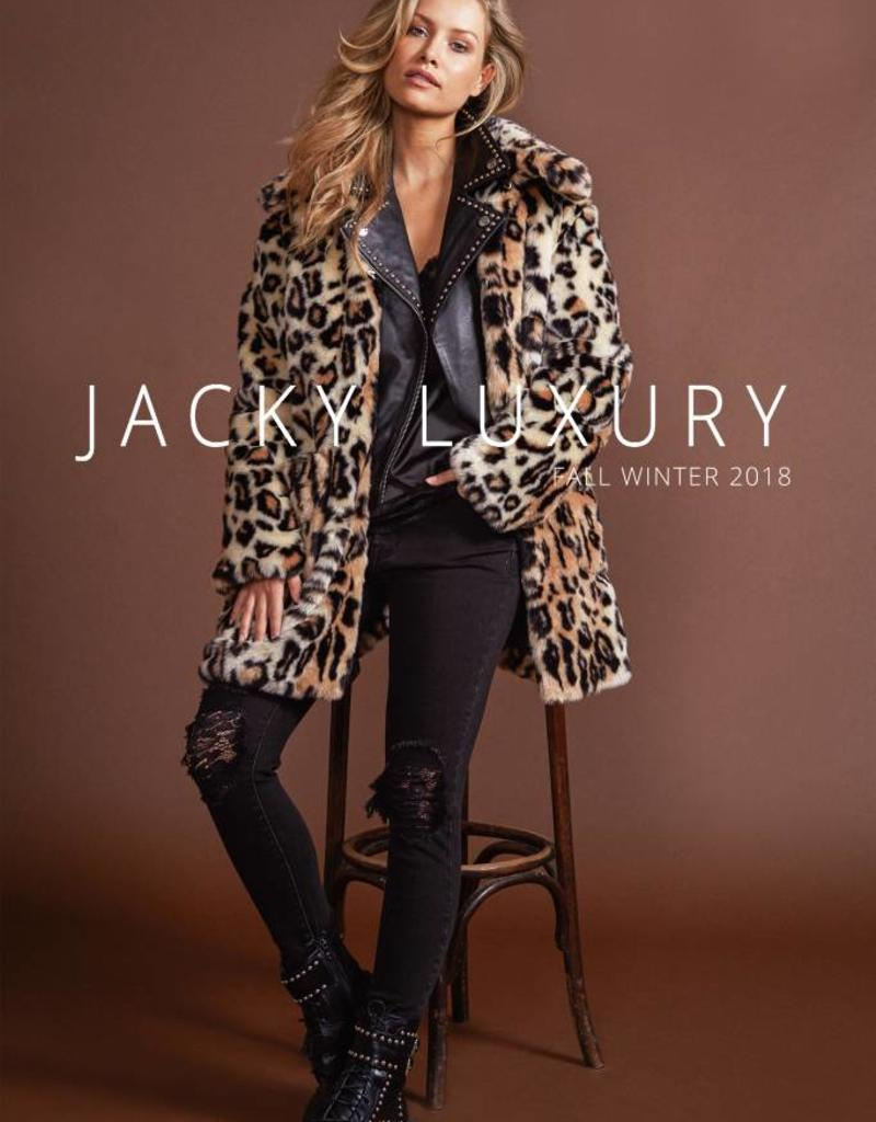 Jacky luxury LEOPARD JACKET FAUX FUR JACKY LUXURY| JLFW18004