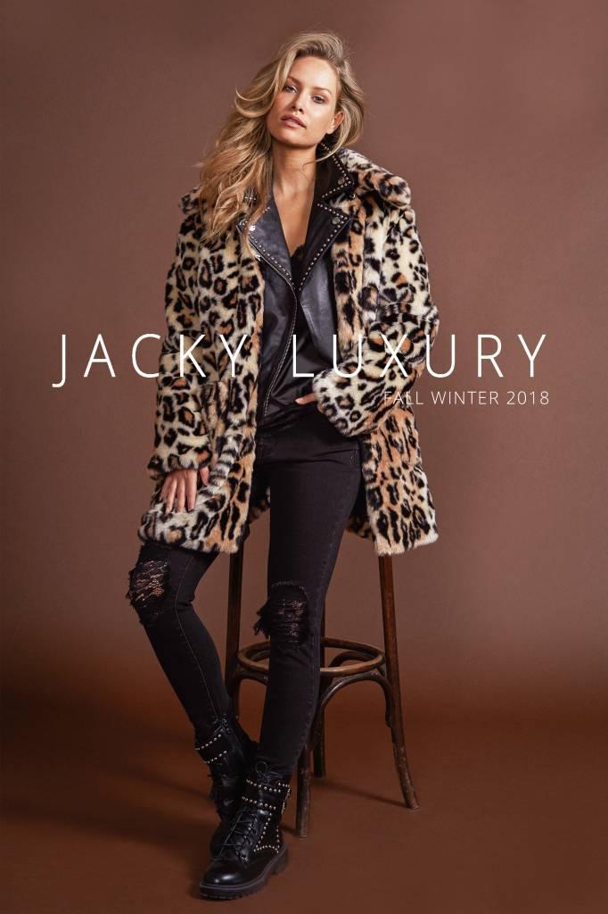 Jacky luxury LEOPARD JACKET FAUX FUR JACKY LUXURY  JLFW18004