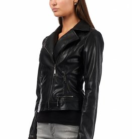 Royal Temptation LEATHER JACKET SABRINA RYL ZWART SALE