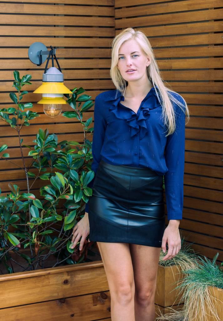 Glamorous LYNA BLOUSE DARK BLUE 2152 GLAMOROUS