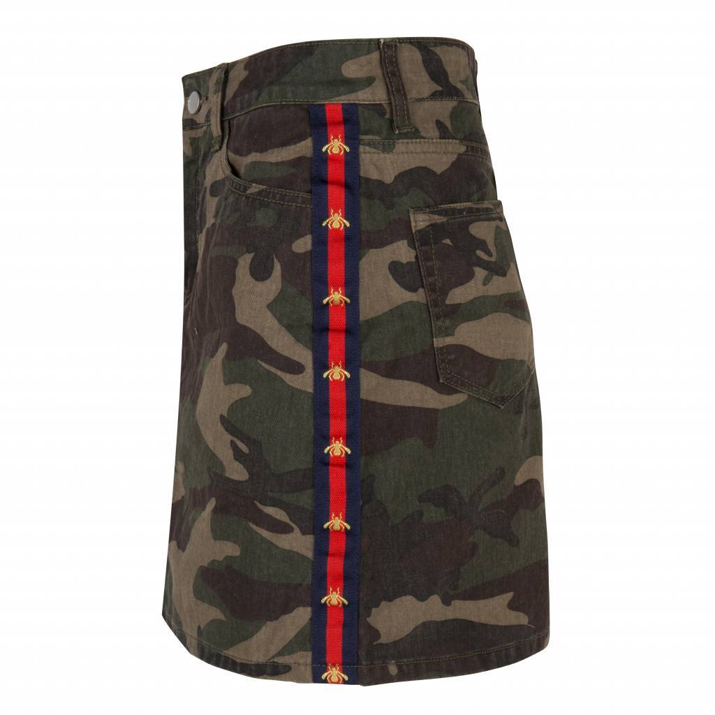 SKIRT JERSEY MR613 CAMOUFLAGE ARMY MAISON RUNWAY SALE