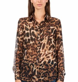 Jacky luxury LEOPARD BLOUSE BASIC | JLFW18040