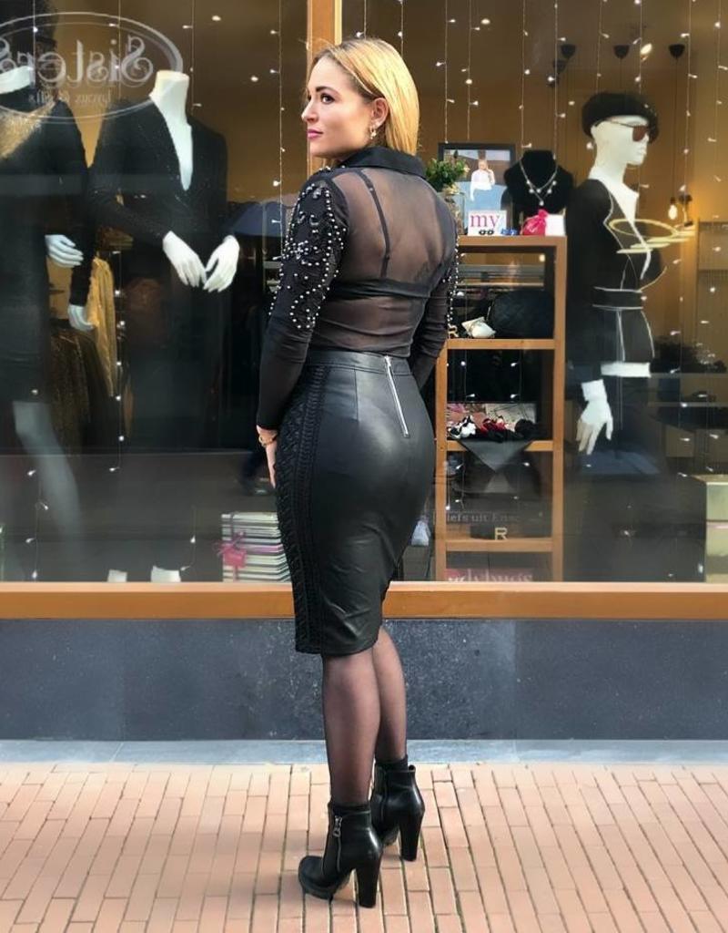 Ladybugs Leather skirt 21352 black