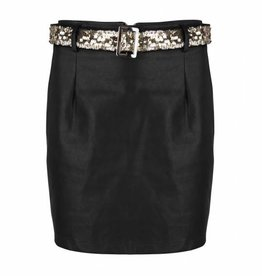 Maison Runway / Delousion Skirt night black leather