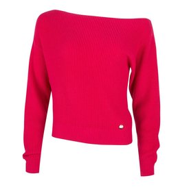 Jacky luxury PULLOVER OFF SHOULDER JLSS19007 HOT PINK