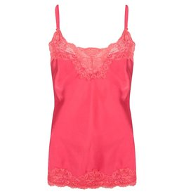Jacky luxury TOP BASIC SATIN LACE JLSS19020 HOT PINK