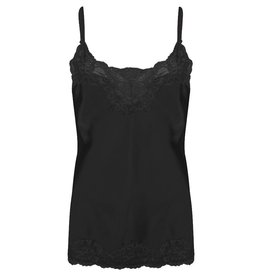 Jacky luxury TOP BASIC SATIN LACE JLSS19020 BLACK