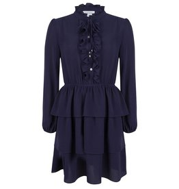 Jacky luxury DRESS RUFFLE JLSS19036 NAVY