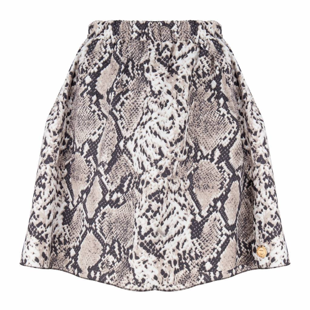 Maison Runway / Delousion skirt noel brown snake