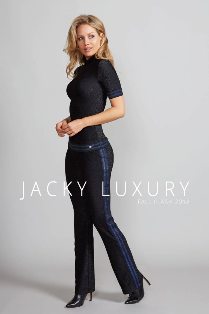 TROUSER LUREX STRIPE JLFF18032 JACKY LUXURY