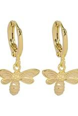 Sieraden by Ladybugs Oorbellen Beautiful Bee gold plated
