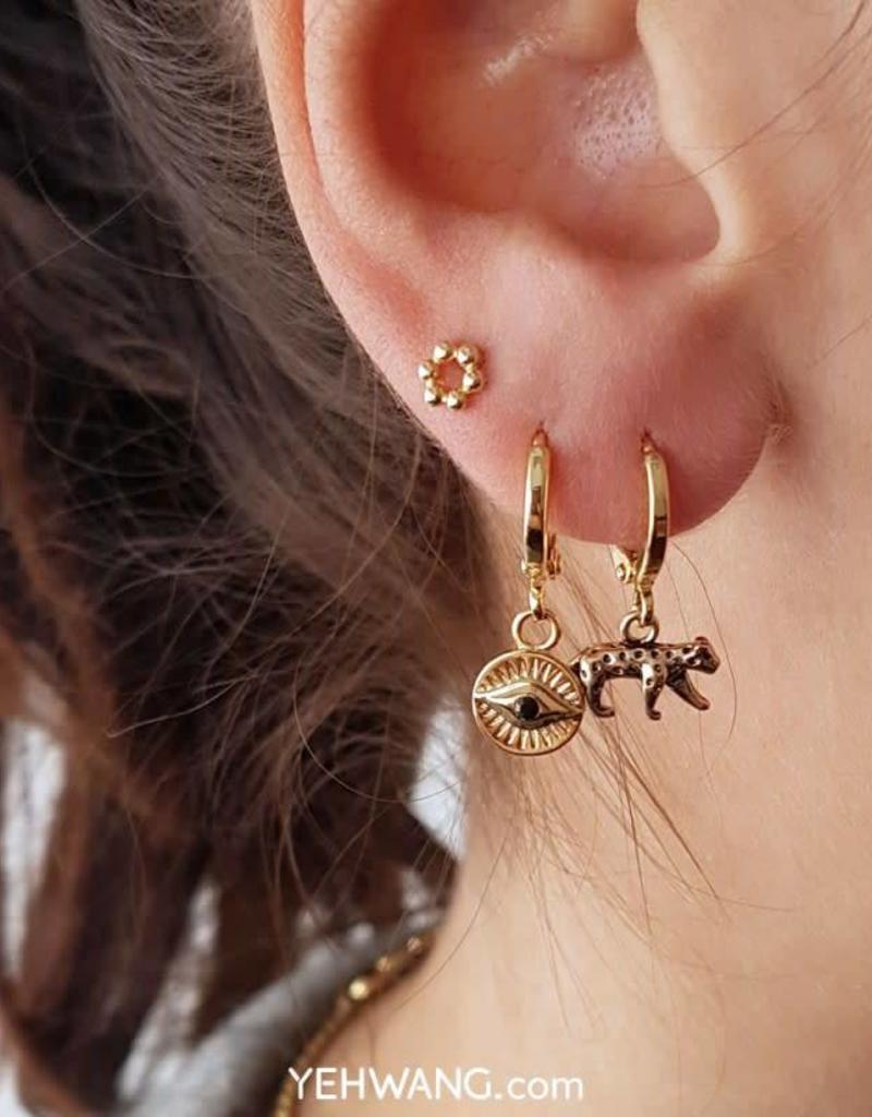Sieraden by Ladybugs Oorbellen Curious Eyes gold plated