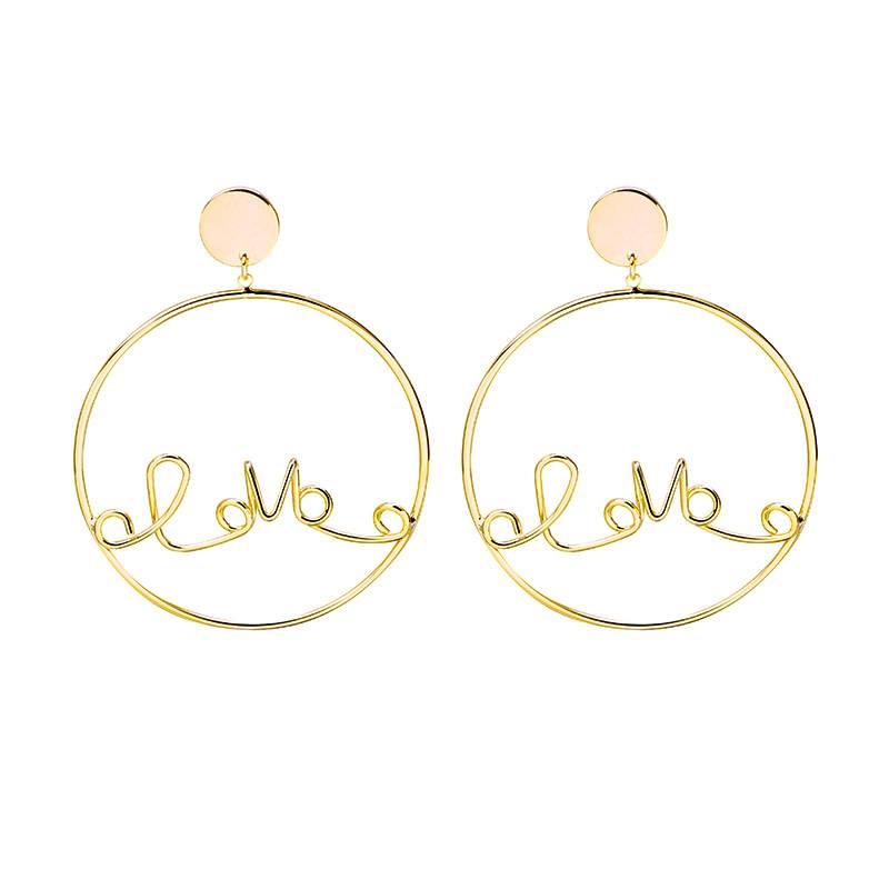 Sieraden by Ladybugs Oorbellen Locked Love gold plated