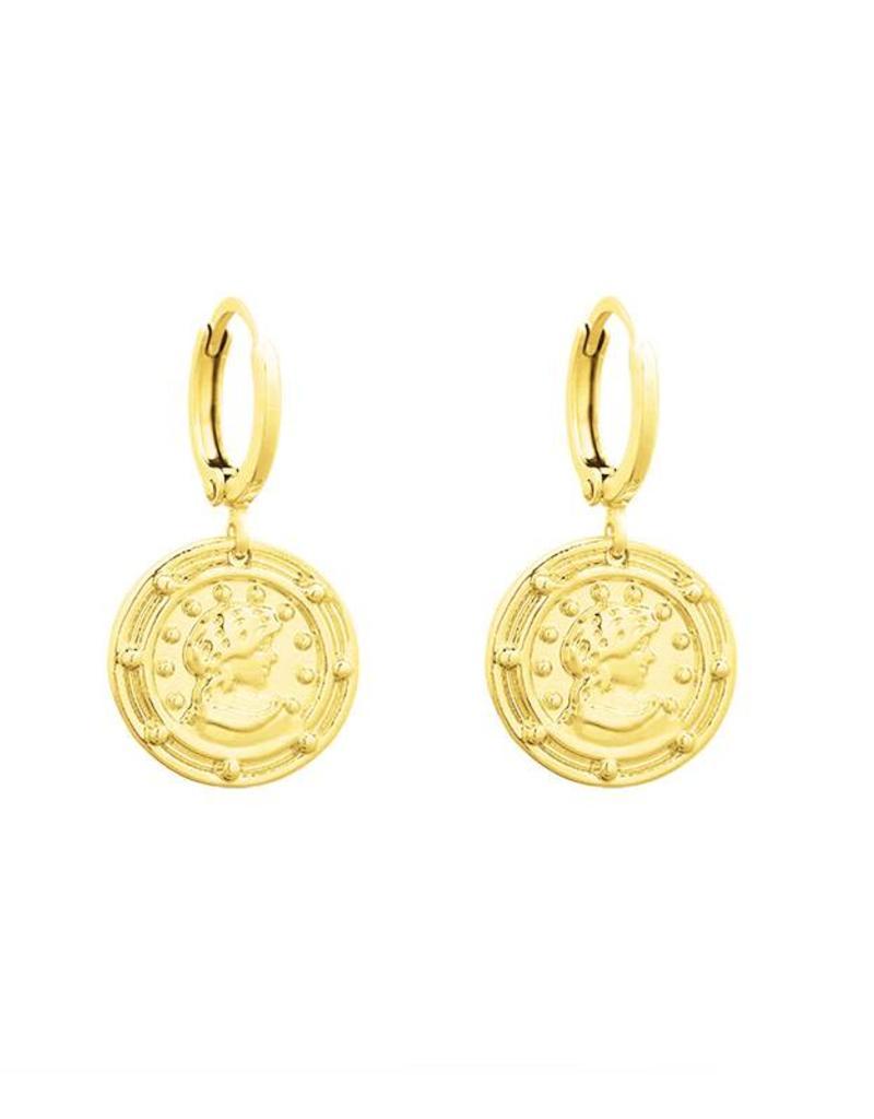 Sieraden by Ladybugs Oorbellen Roman Times gold plated