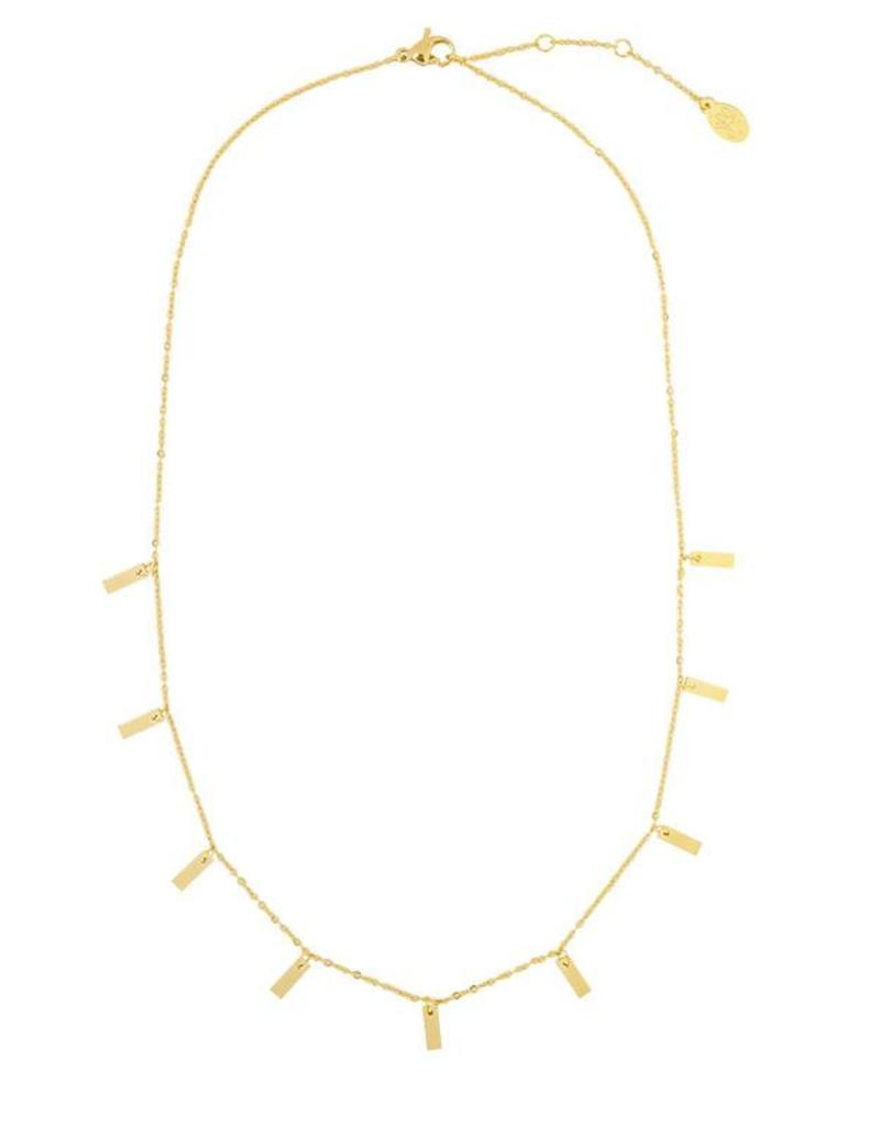Sieraden by Ladybugs Ketting Beautiful Lines stainless steel