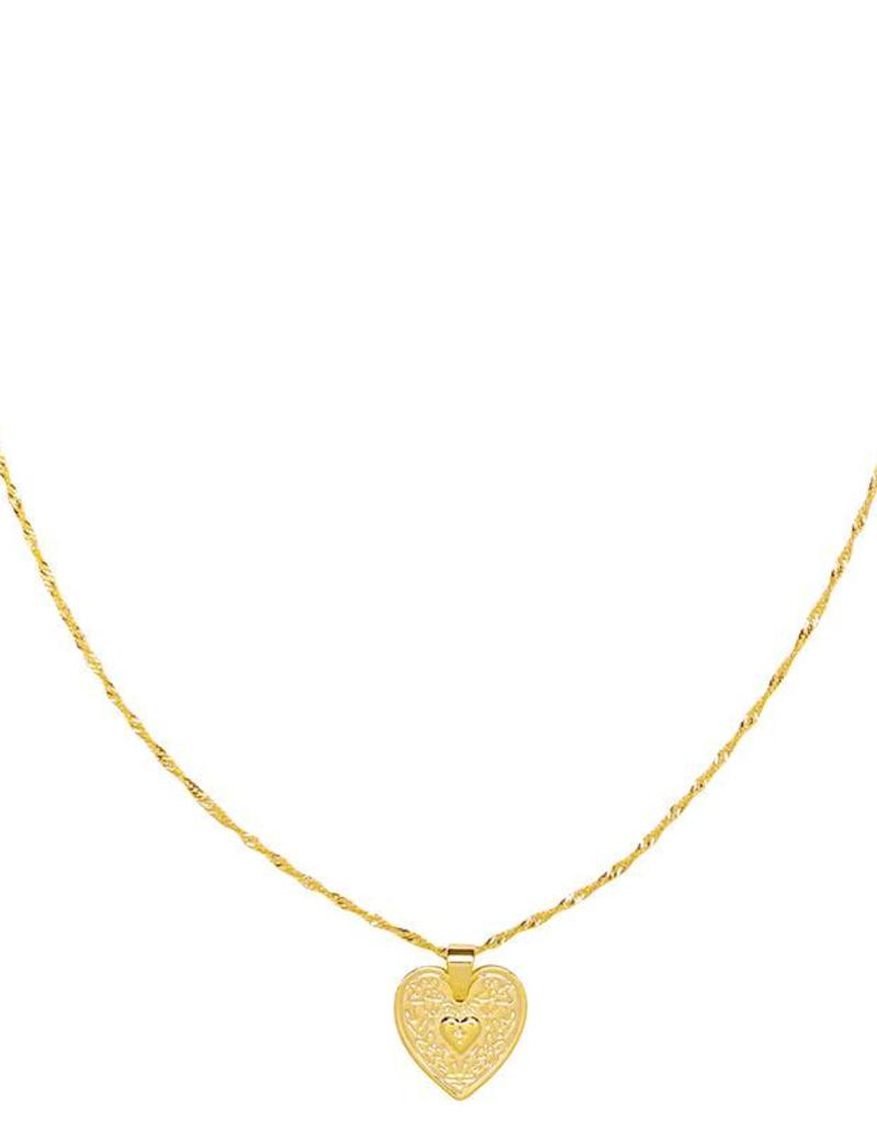 Sieraden by Ladybugs Ketting Locked In Love gold plated