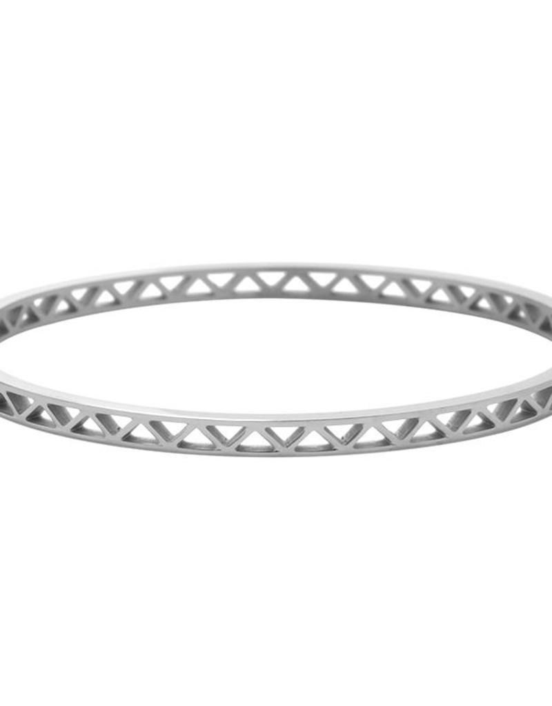 Sieraden by Ladybugs Armband Triangles on Top stainless steel