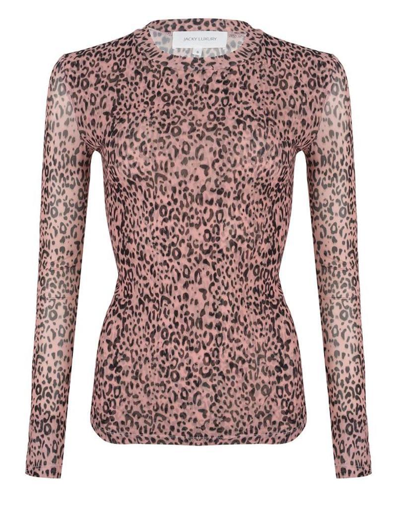 TOP MESH JLSS19044 leopard pink