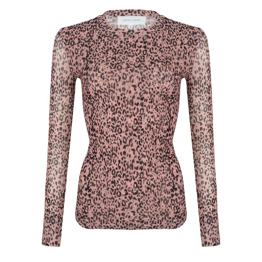 Jacky luxury TOP MESH JLSS19044 leopard pink