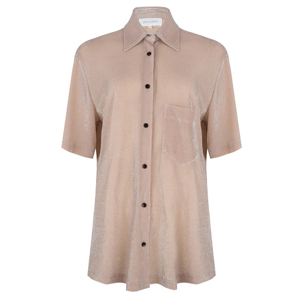 Jacky luxury BLOUSE SHORT SLEEVES JLSS19014 nude