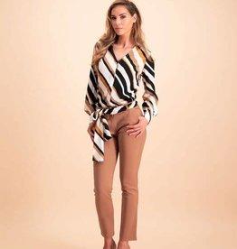 Desiree blouse GW119116 beige stripe