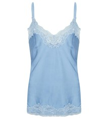 Top basic satin lace bleu jlss19020A