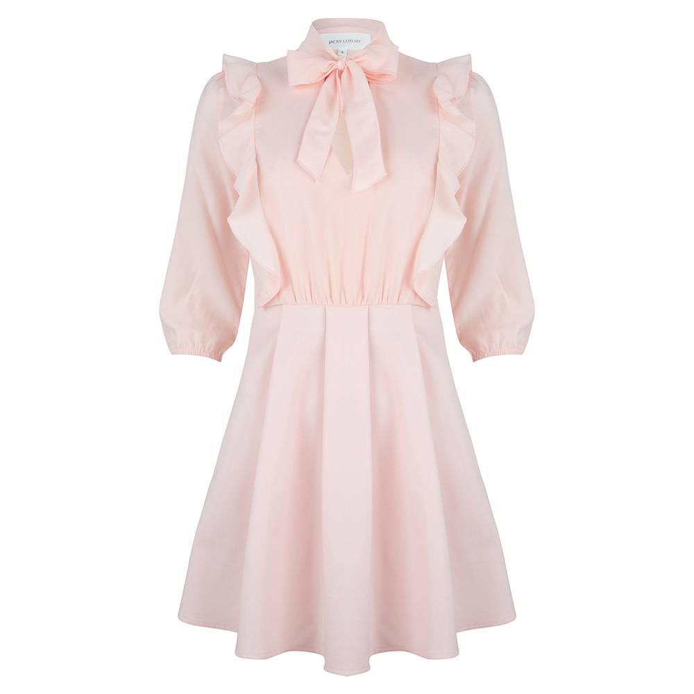 Jacky luxury Dress bow detail pink JLSS19070