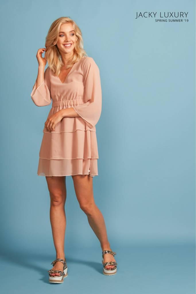 Dress 3/4 sleeve nude JLSS19073